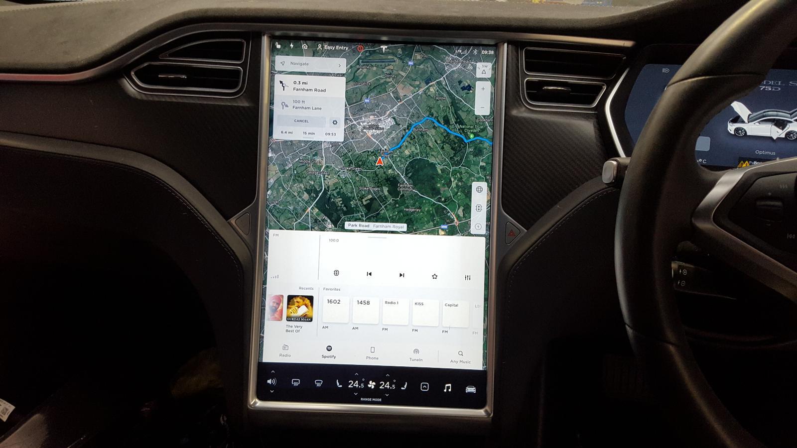 View Auto part Radio Display Tesla Model S 2017