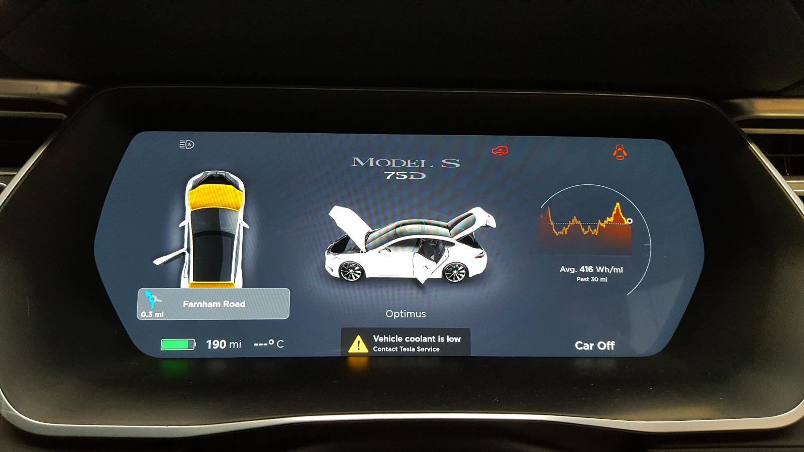 View Auto part Speedometer Tesla Model S 2017