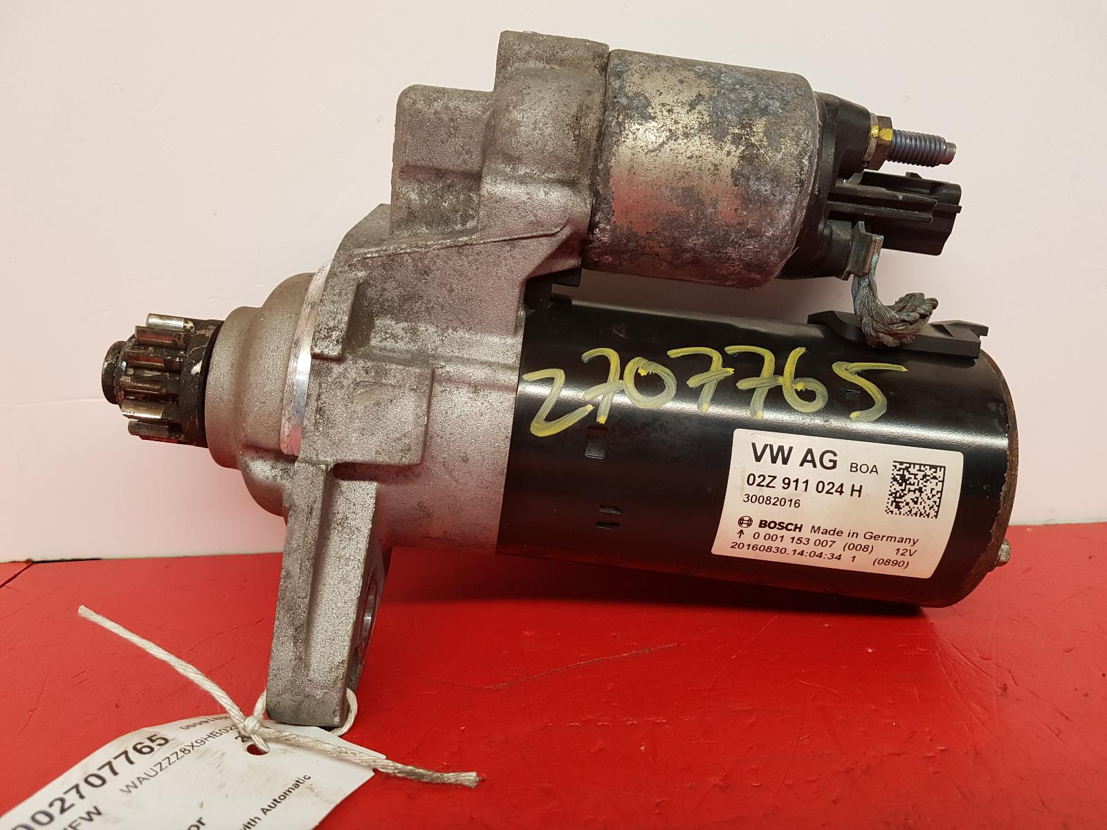 View Auto part Starter Motor Audi A1 2016