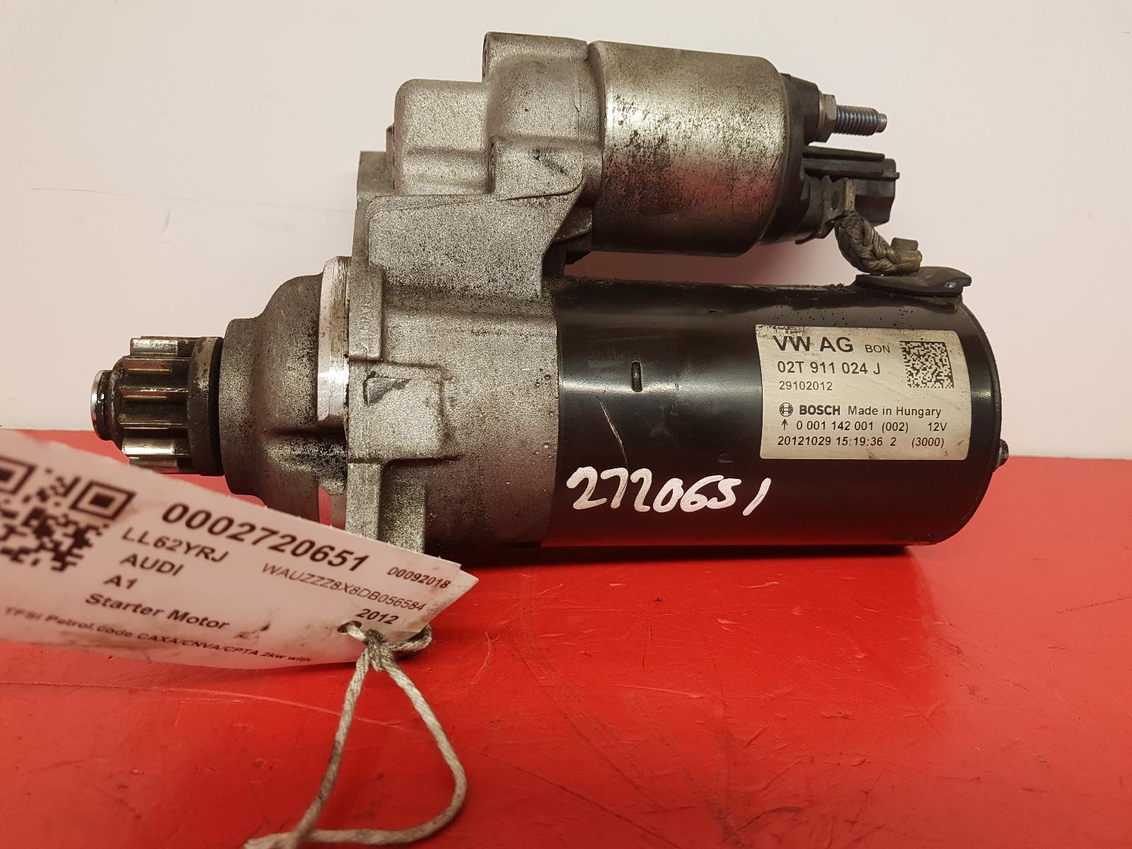 View Auto part Starter Motor Audi A1 2012