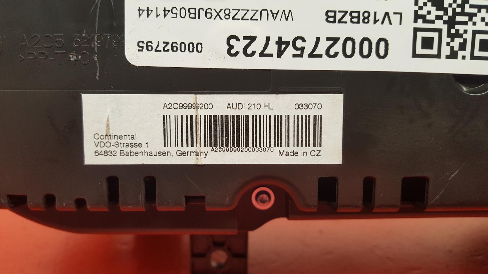 View Auto part Speedometer Audi A1 2018