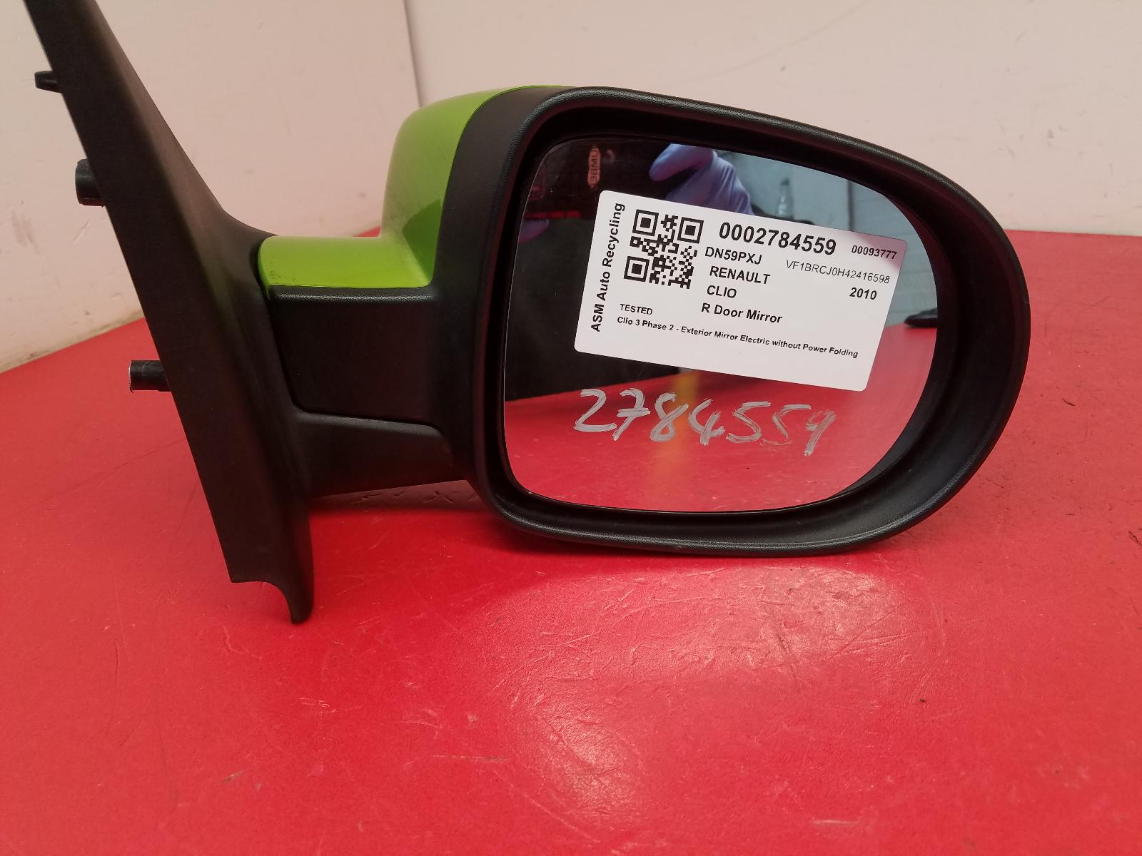 View Auto part R Door Mirror Renault Clio 2010