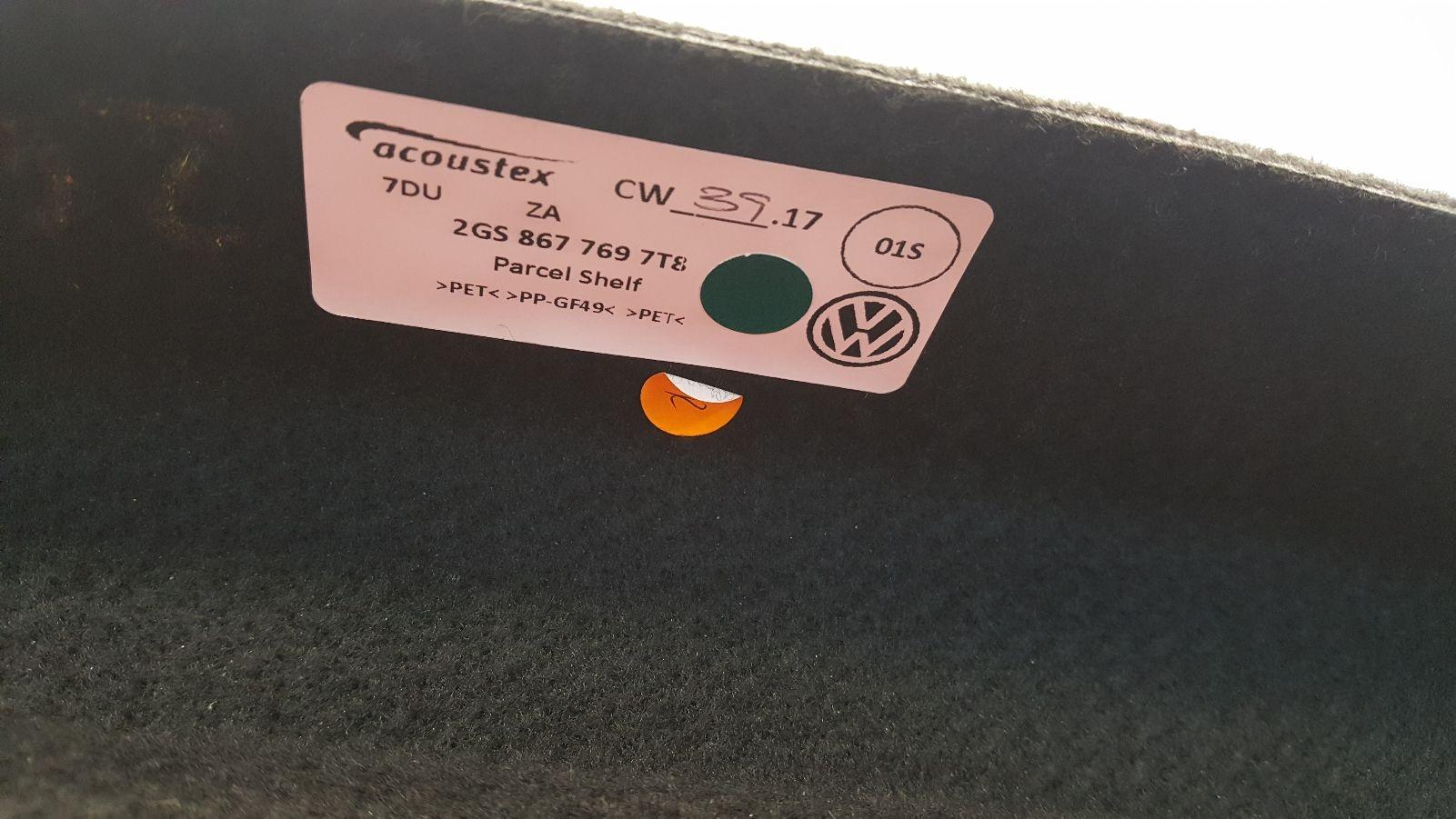 View Auto part Parcel Shelf Volkswagen Polo 2018